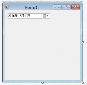 Form1にDateTimePickerを配置